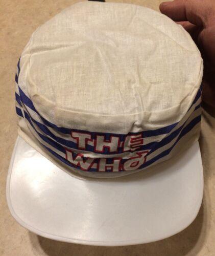 True Original Vtg 80s The WHO Painters Cap Hat Roc
