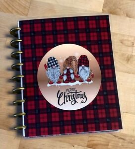 Gnomes Merry Christmas Holiday Front Back Cover Set 4 use w Erin Condren Planner