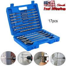 17pcs Sds Plus Rotary Hammer Drill Chisel Concrete Masonry Percussion Drill Set