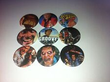 9 Bruce Campbell button badges 25mm Evil Dead Bubba Ho-Tep Sam Raimi As Vs