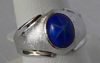 Park Lane Retired Hostess Simulated Blue Star Sapphire Beautiful Ring Size 8