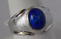 Park Lane Retired Hostess Simulated Blue Star Sapphire Beautiful Ring Size 10