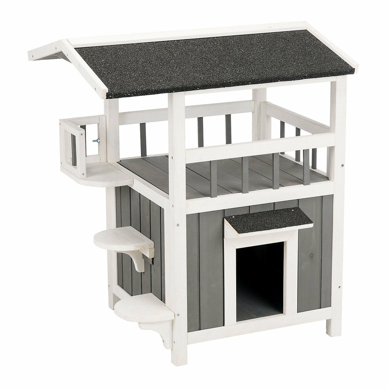 Trixie Natura Pet's Home with Shade Grey Cat Furniture, 29.75  H