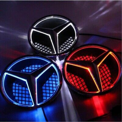 For MERCEDES A B C CLA E G CLASS EMBLEM BADGE SILVER STAR LED ILLUMINATED LIGHT