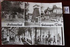 Carte Postale Vue Carte Thuringe Volrssolbad Salznngen Ghür-afficher Le Titre D'origine