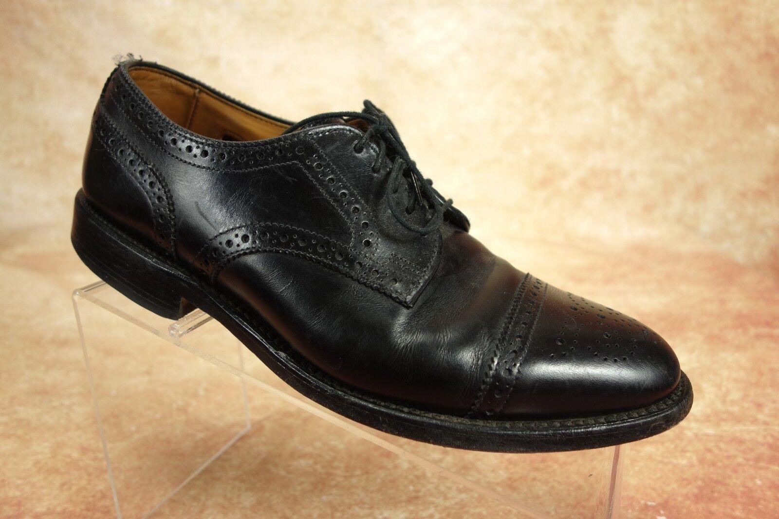 solo per te Allen Edmonds Sanford nero nero nero Leather Cap Toe Dress Oxford Derby scarpe Uomo 7D US  più ordine