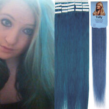 Straight 100% Remy Human Hair Extensions PU Super Tape in Hair Weft 16-20Inch