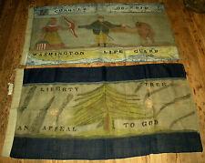 c. 1926 WASHINGTON LIFE GUARD & APPEAL TO HEAVEN REVOLUTIONARY WAR FLAG vafo