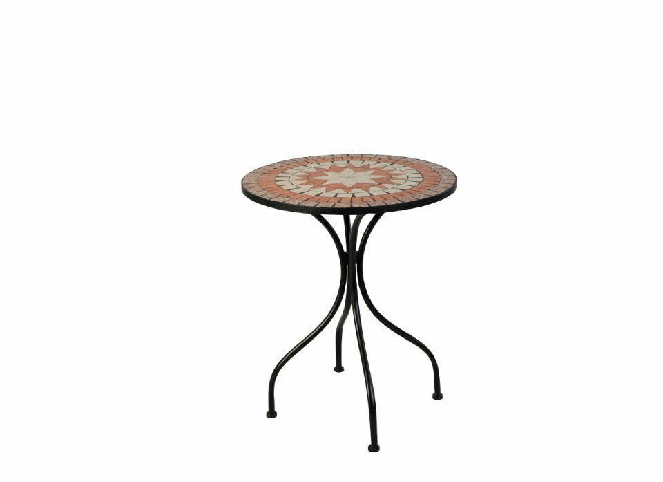 Bistro-Tisch Eisen Gartentisch Beistelltisch Garten Garten Garten Mosaik MC4341B Tisch d1c499