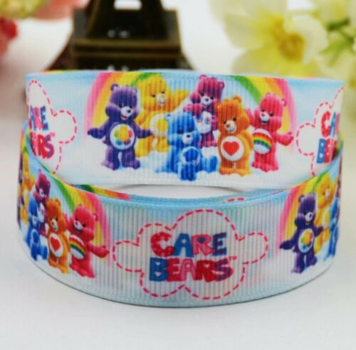 1 meter of Care Bear Character 22mm Grosgrain Ribbon for card Making or Bows