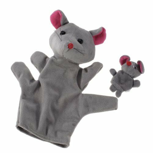 Grey Mouse Hand Puppet Finger Puppets CP