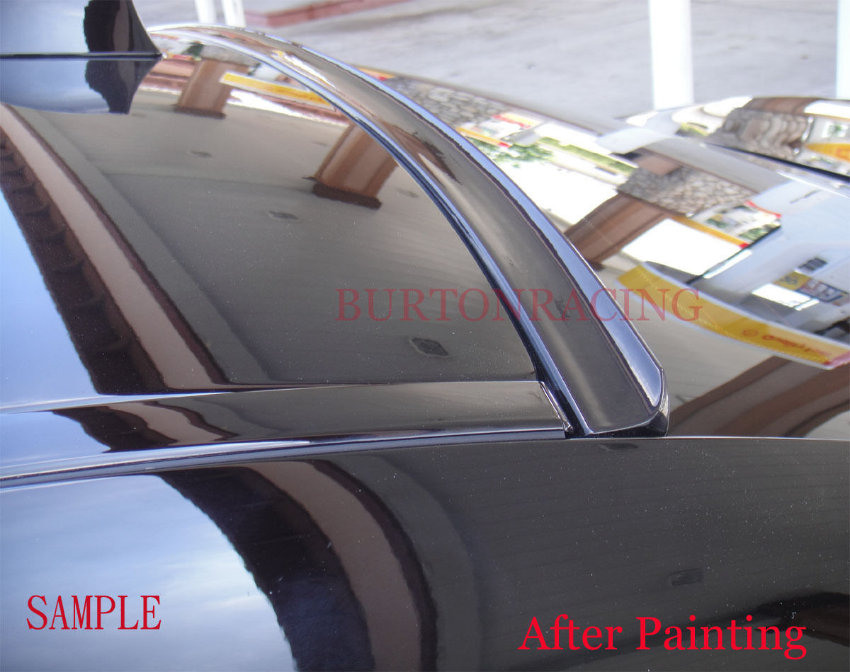Painted Black Rear Window Roof Spoiler for Honda Accord 2D Coupe 2008-2012