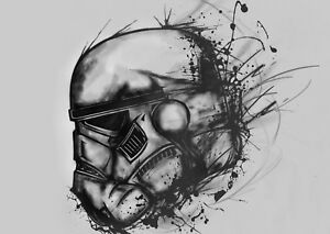 Star Wars Storm Troopers Poster Art Print Black /& White Card or Canvas