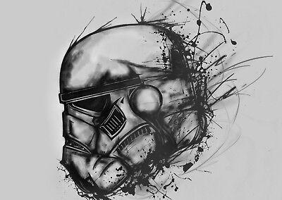 Star Wars Movie Storm Trooper Poster Art Print Black /& White Card or Canvas