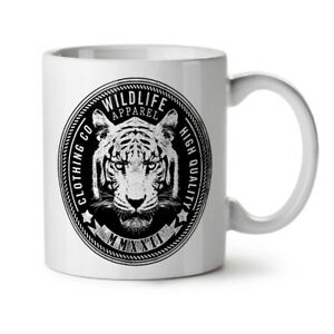 Wildlife Tiger Vintage NEW White Tea Coffee Mug 11 oz | Wellcoda