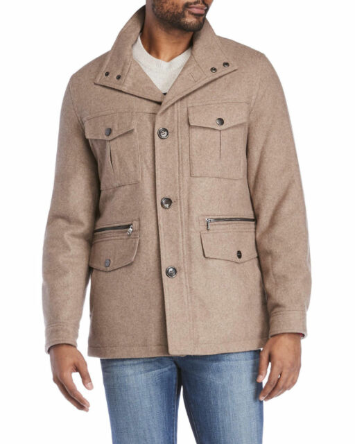 find lowest price noveldesign 2019 best Michael Kors Wool‑Blend Peacoat NWT Field Coat Toast Heather Beige SZ Small  S
