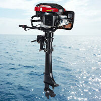7hp Outboard Motor Fishing Boat Engine Updated W/ 4 Stroke Air Cooling System