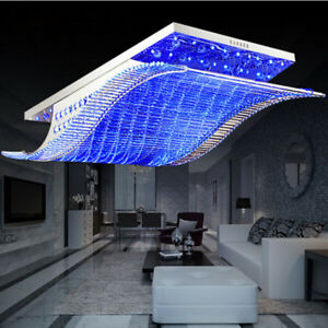 Details About Modern Art Crystal Ceiling Fixture Lamps Chandelier 7 Color Led Lighting Lights