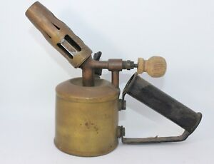Brass-Blow-Torch-Anglo-Swedish-Paraffin-Petrol-Vintage-Antique