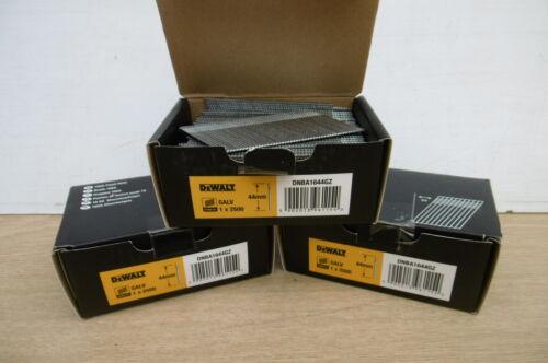 3 X 2500 DEWALT  50MM   16 GAUGE 20* BRAD NAILS DC618 DCN660 NAILER DNBA1650GZ