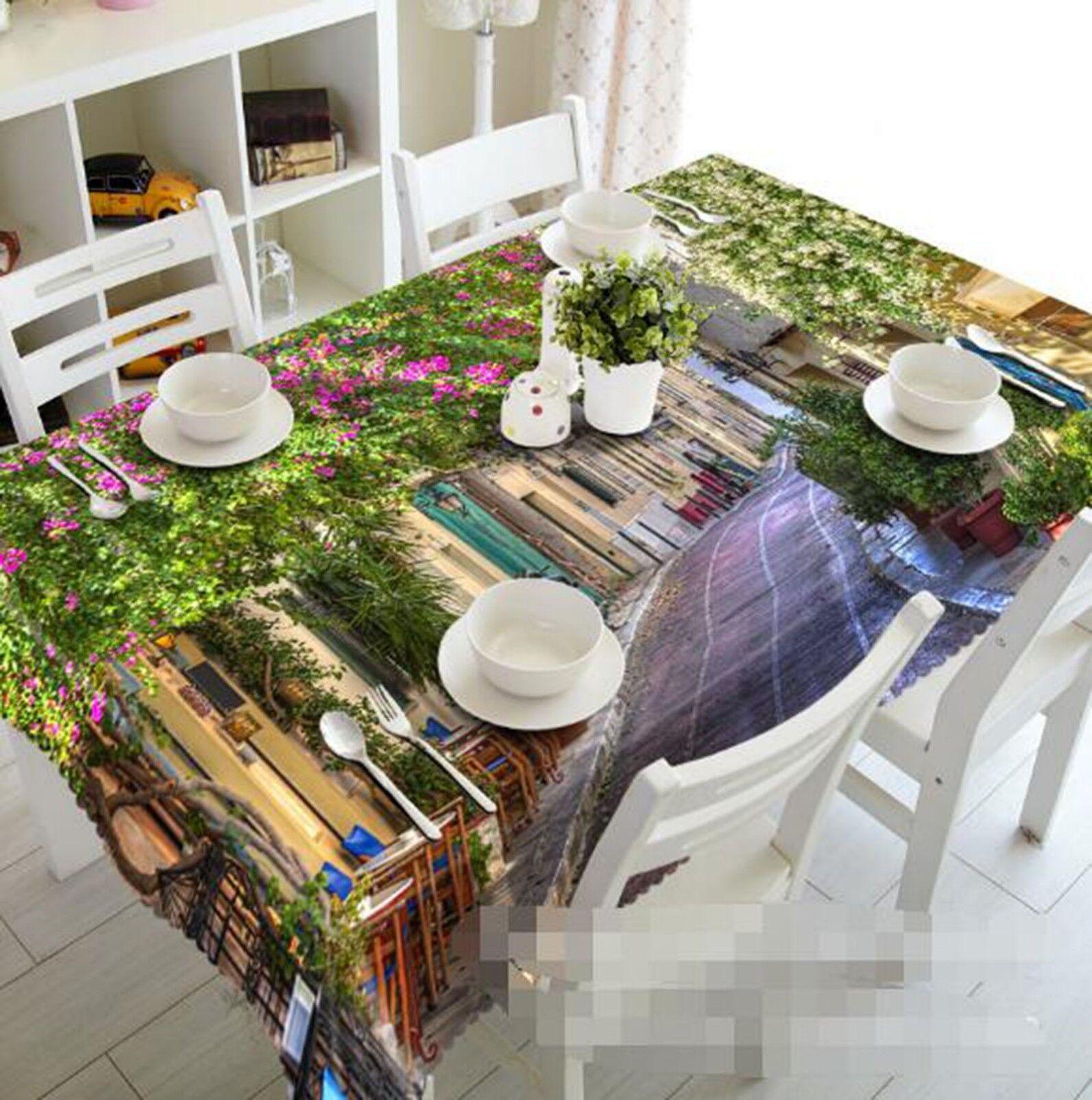 3D Street House 02 Tablecloth Table Cover Cloth Birthday Party Event AJ Lemon