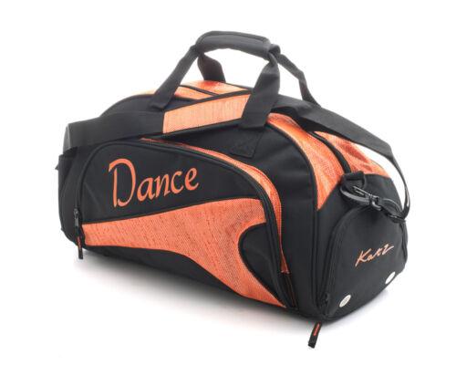 Medium Sparkly Orange Dance Ballet Tap Kit Holdall Sports Bag KB88 By Katz
