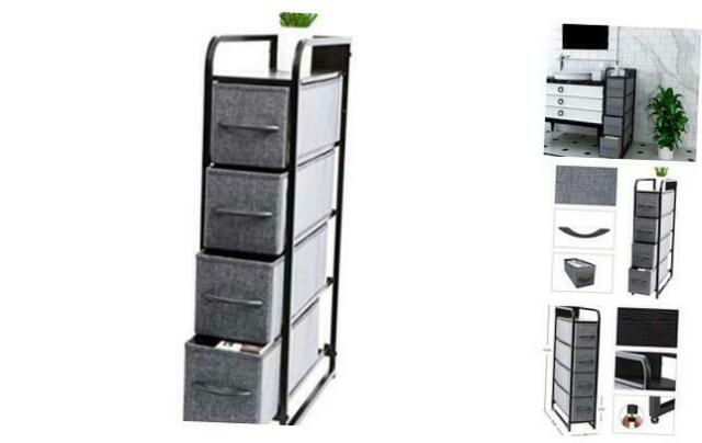 4 Drawers Tower Stand Storage Cabinet