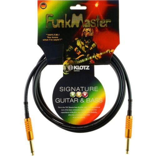 Klotz TM-0300 FunkMaster 3 Meter signature Gitarren /& Bass Kabel,made in Germany