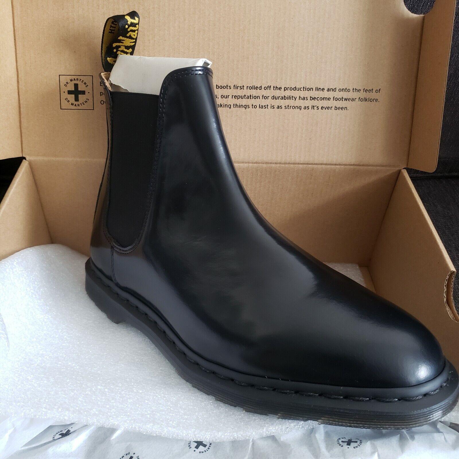 Dr Martens UK size 7 Graeme II black Polished Smooth Leather Chelsea Mens Boots