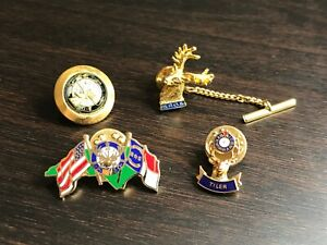 Order-Of-The-Elks-Pin-Lot-4-Pcs