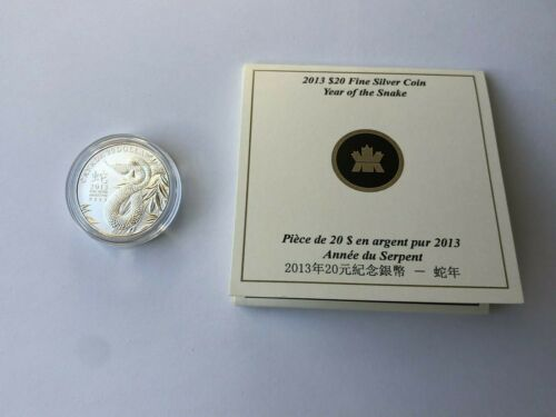 2013 $20 Dollar Silver /'Year of Snake/' Commemorative Coin in clamshell w// COA!