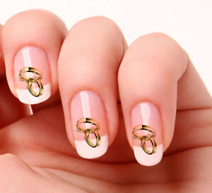 20 nail art decals transfers stickers 355 wedding rings ebay image is loading 20 nail art decals transfers stickers 355 wedding sciox Image collections