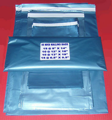 50 MXD POSTAL MAILING BAGs/MAIL/PARCEL/4Sizes/FAST POST