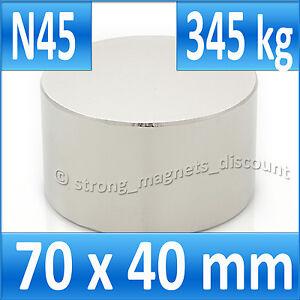 5 MINI BILLES 400Kg SUPER AIMANT MAGNET NEODYM N45-90x40mm