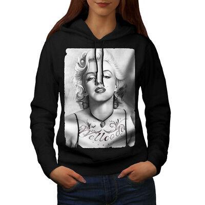 Marilyn Monroe Chick Felpa Con Cappuccio Donna Nuovo | Wellcoda-mostra Il Titolo Originale Negozio Online