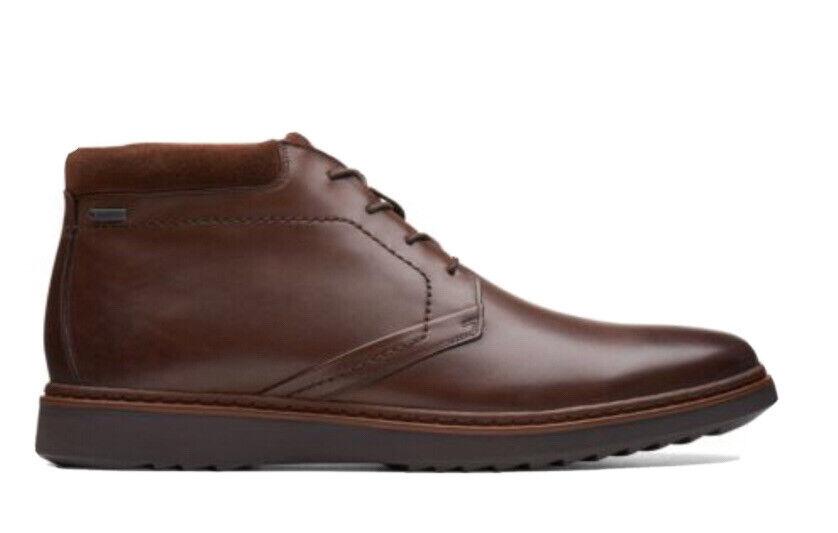 Clarks Men's UN GEO MID GTX Brown Leather Boots UK Size 6.5 H EU 40