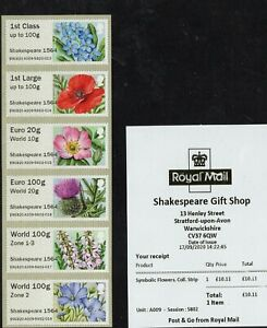 NEW-VALUES-2020-GB-Post-amp-Go-Shakespeare-Collectors-Flowers-A009-World-100-Z1-3