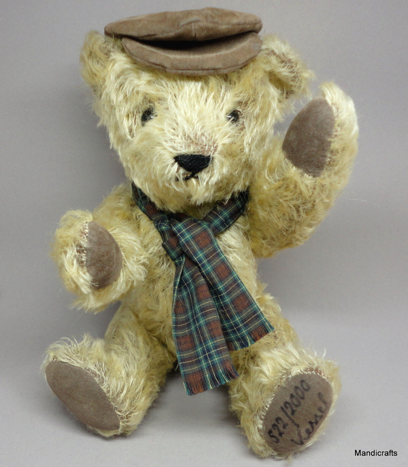Althans Jalopy Driver Teddy orso Mohair Mohair Mohair Plush LE2000 Signed Growler 12in Geruomoy 2958c2