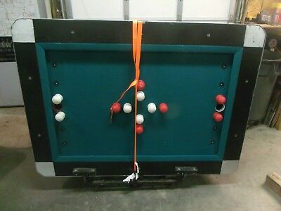 One Billiard Table Bumper Pool Table Rail VALLEY 7 Ft Covered Green Coin Op ONE
