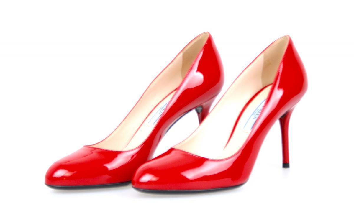 Luxury PRADA PUMPS SHES ABSOLUTE KLASSICS 1i628d röd NEW 36,5