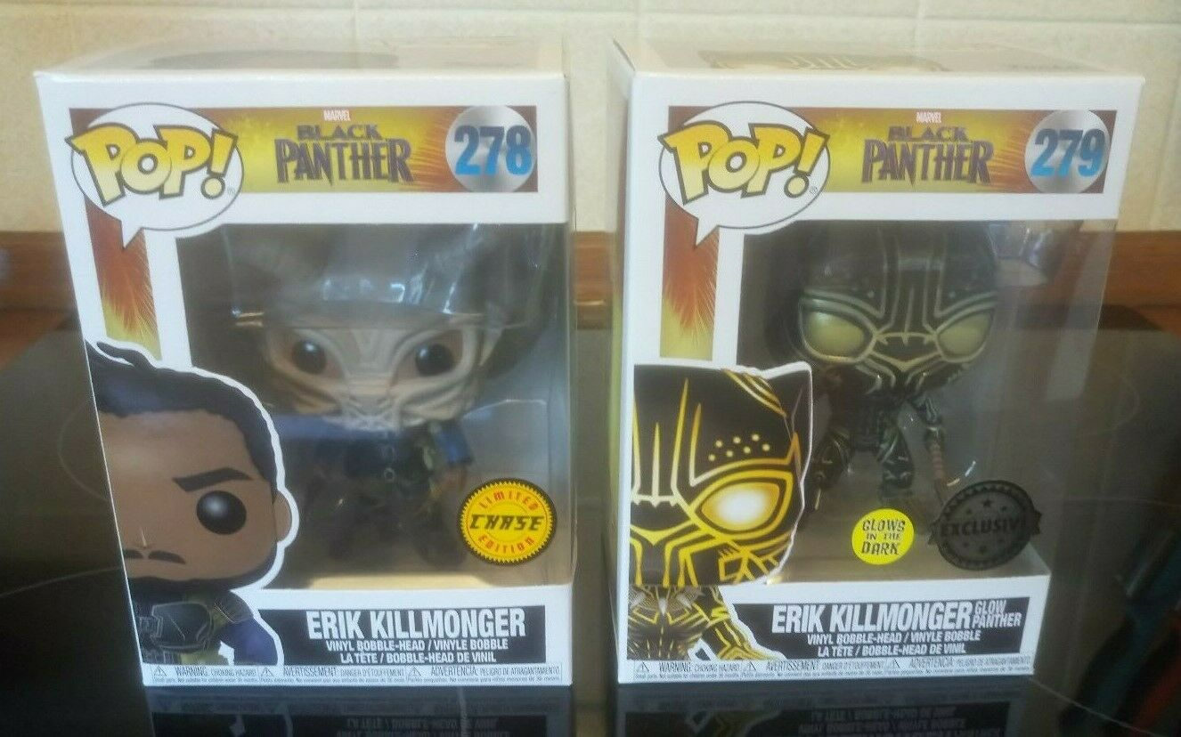 divertiessitoko Pop Marvel PANTERA NERA brillano al buio e Chase killmonger Bundle