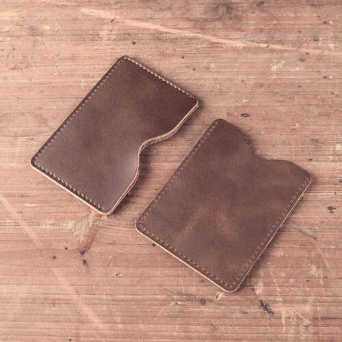 Handmade Véritable Portefeuille Cuir Carte De Crédit Sleeve Vintage Business Porte-sac à main