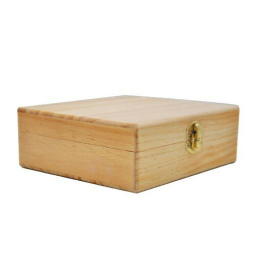 Wood Gift Tray Grinder Rolling Paper Stash Storage Kit Wooden Box Set Case KV