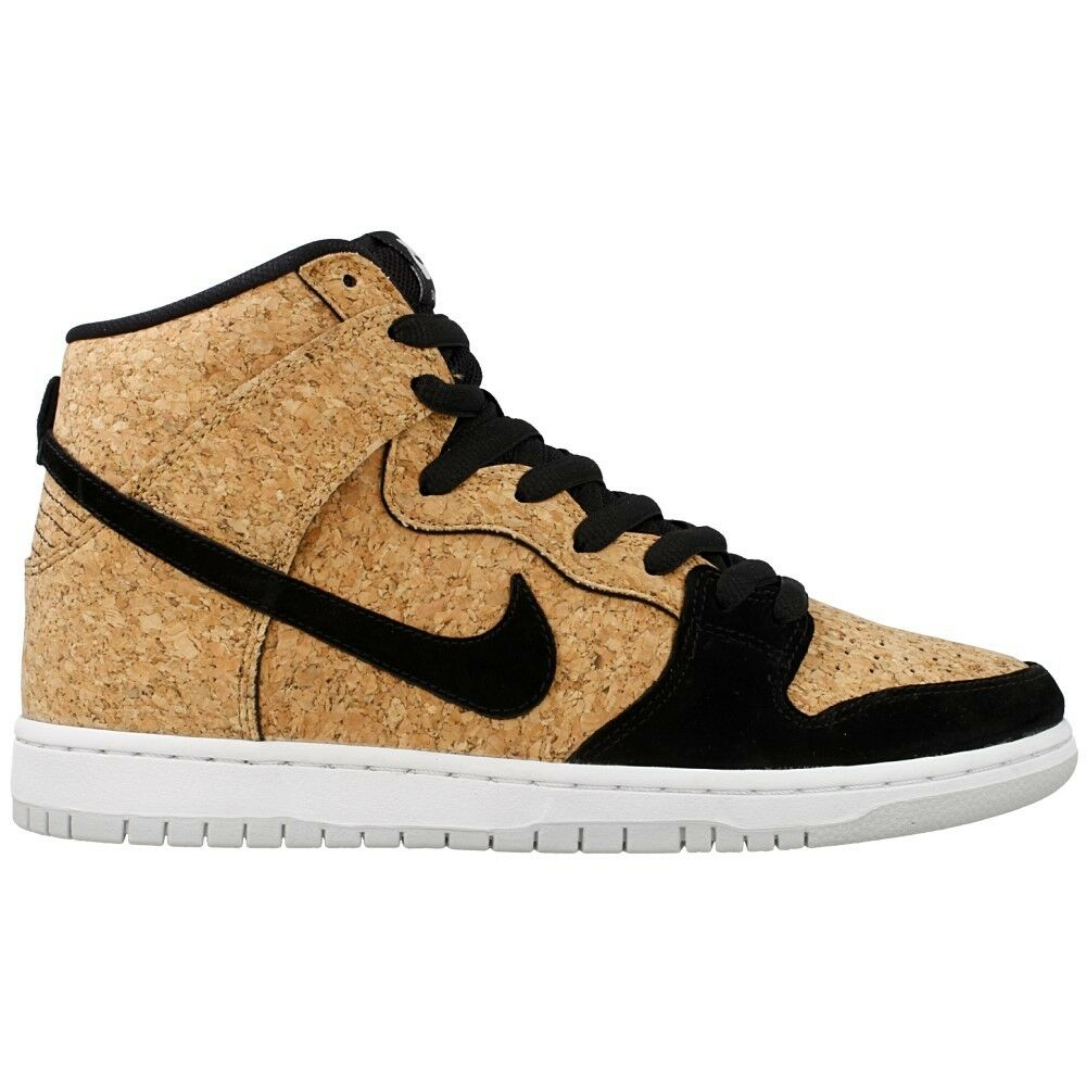 Nike DUNK HIGH PREMIUM SB Black Hazelnut White Cork 313171-026 (535) Men's Shoes