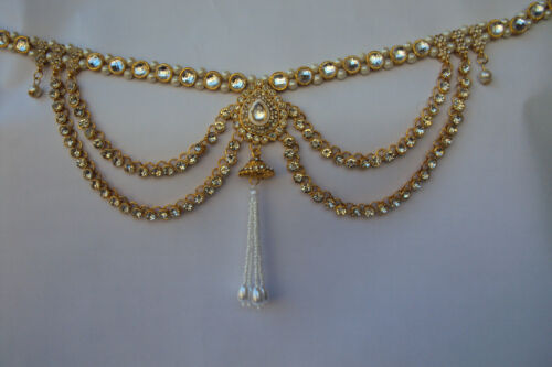 Indian Traditional Bridal New Jewelry Kamar Bandh Gold Tone Chain Hip Waist Belt