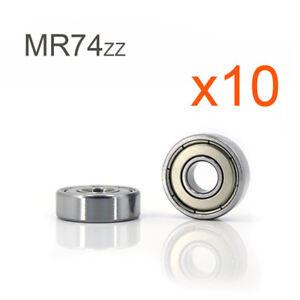 4 x 7 x 2,5 mm 4 Kugellager MR 74 ZZ