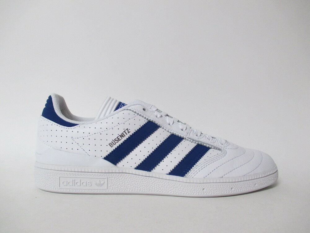 Adidas Busenitz White Royal Blue Pro Leather Sz 9.5 BY3971