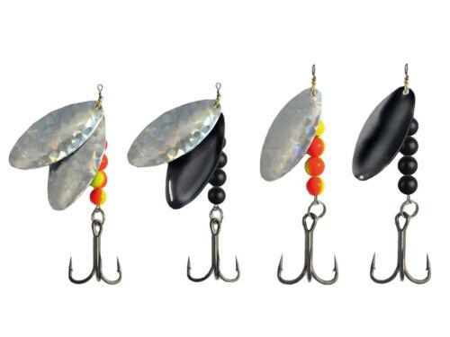 Trendex Waller Großfisch Doppelblatt und Einfach Spinner 40-60g