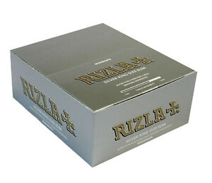 RIZLA-SILVER-KING-SIZE-SLIM-ULTRA-THIN-CIGARETTE-SMOKING-ROLLING-PAPERS-ORIGINAL