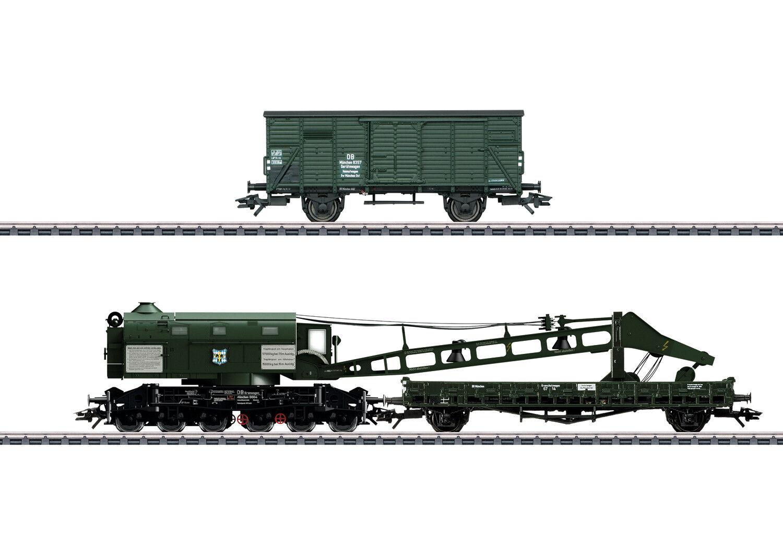 Märklin 49570 gru a vapore carrello-Set Ardelt 57t con protezione gru CARRELLO DB #neu in OVP #